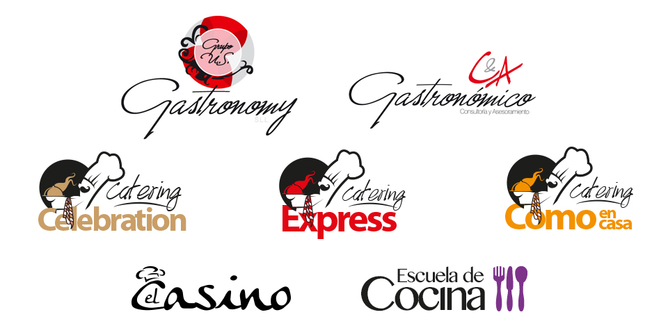 Logotipos creados para Grupo Gastronomy