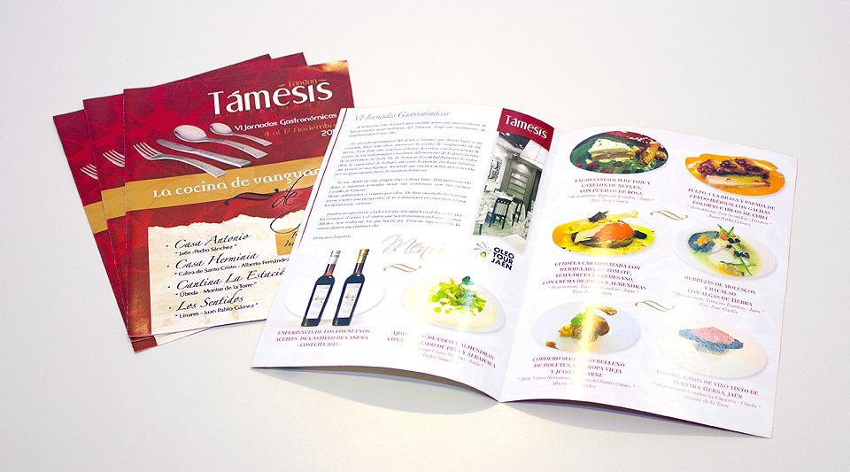 Diseño de las VI Jornadas Gastronómicas - Restaurante Támesis