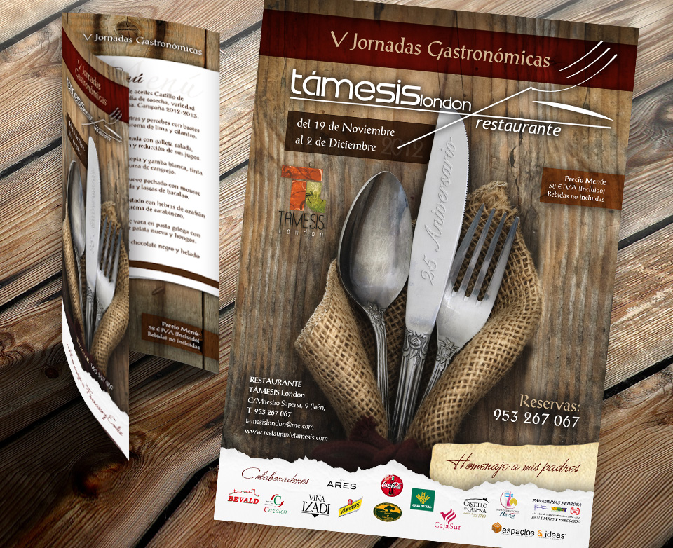 Diseño de toda la imagen de las V Jornadas Gastronomicas