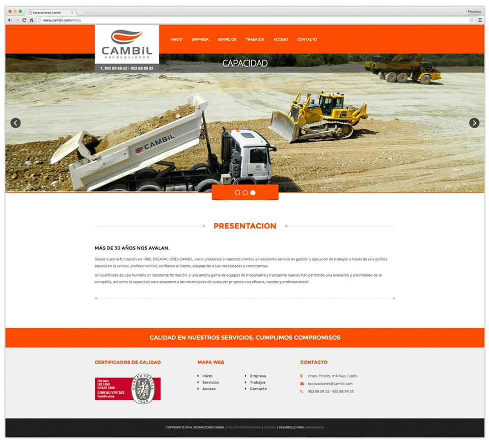 Excavaciones Cambil Web